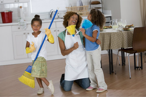 black-children-cleaning